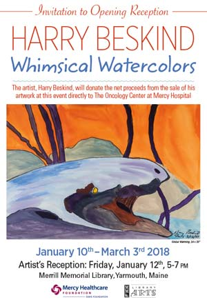 Harry Beskind, Whimsical Watercolors Artist's Reception - click for more info